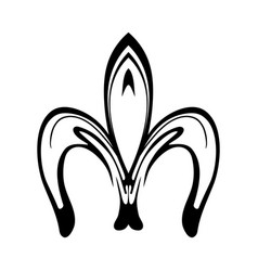 Abstract fleur de lis icon isolated on white vector
