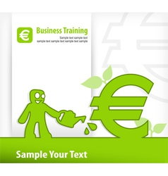 business euro vector image