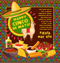 Cinco de mayo mexican celebration fiesta vector
