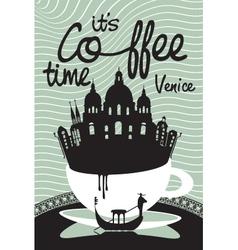 Coffee on venice vector