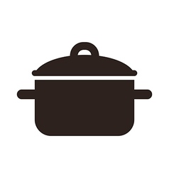 Cooking pot symbol vector image