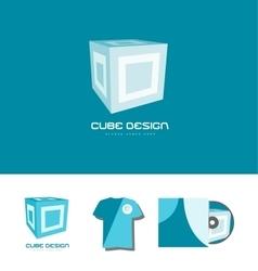 Cube 3d logo icon design vector image