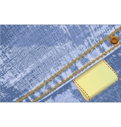 denim jeans label vector image