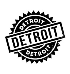 Detroit rubber stamp vector