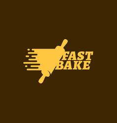 fast bake logo vector image vector image