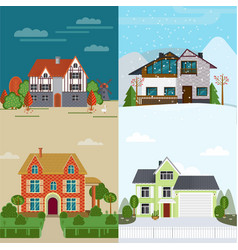 Flat rent houses concept vector