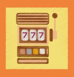 flat shading style icon slot machine vector image