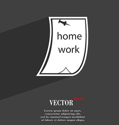 Homework symbol flat modern web design with long vector