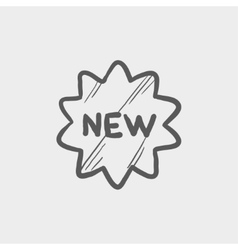 New tag sketch icon vector image