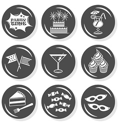 Party time icon set vector