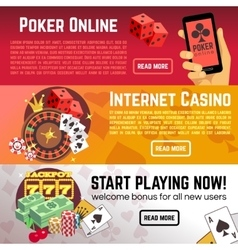 Poker online gaming lottery internet casino vector image vector image