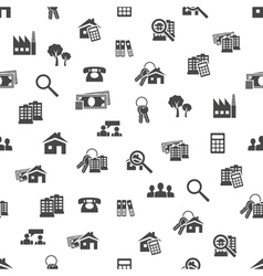 Real estate seamless pattern vector