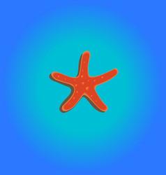 seastar blue vector image vector image