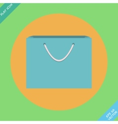Shopping Bag Icon - vector image vector image