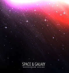 Space background with bright starlight vector