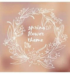 spring flower theme vector image