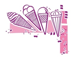 Card with ice-cream vector