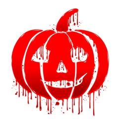 Pumpkin blood vector image