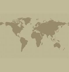 earth map on khaki background vector image