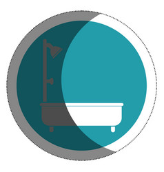 Bathtub silhouette isolated icon vector