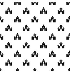 Fairytale castle pattern vector
