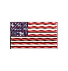 drawing united states of america flag vector image