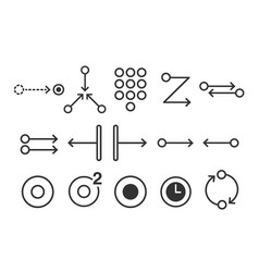 Mobile touch gesture icons vector