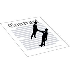 Contract business people sign agreement vector