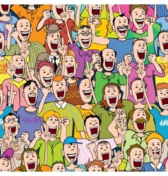 Crowd cheering seamless vector