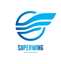 Superwing - logo concept vector