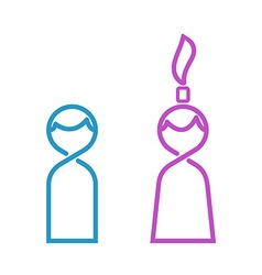Male and female thin line toilet icon man and vector