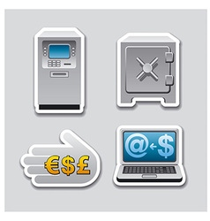 Banking stickers vector