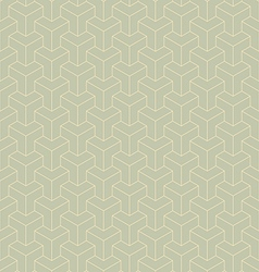 Abstract green geometric hexagon repeating vector