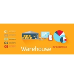Concept infographics equipment warehouse vector