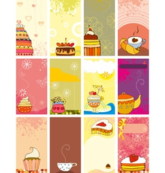 Card set sweet love vector