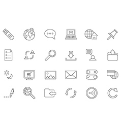 Internet black icons set vector