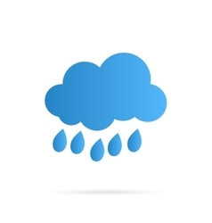 Cloud and Rain Icon vector image