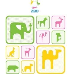 Zoo logo vector image