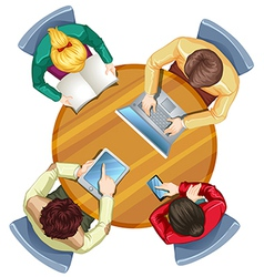 A topview of busy people vector image vector image