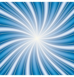abstract blue radiate background vector image vector image