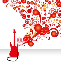 abstract guitar background vector image vector image