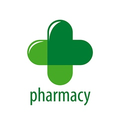 Abstract logo green cross pharmacy vector