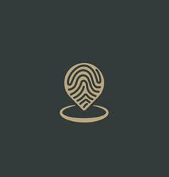 Abstract pin logo design location creative symbol vector