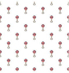 Baby rattle pattern seamless vector