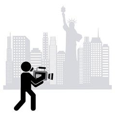 Cameraman icon vector
