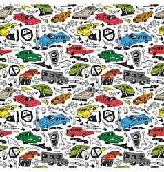 cars - seamless background vector image vector image