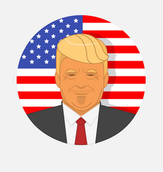 Character portrait of donald trump on american vector
