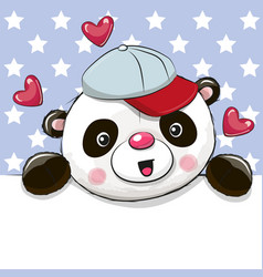 cute cartoon drawing panda vector image