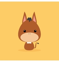 Cute cartoon wild donkey vector
