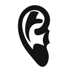 Ear icon simple style vector
